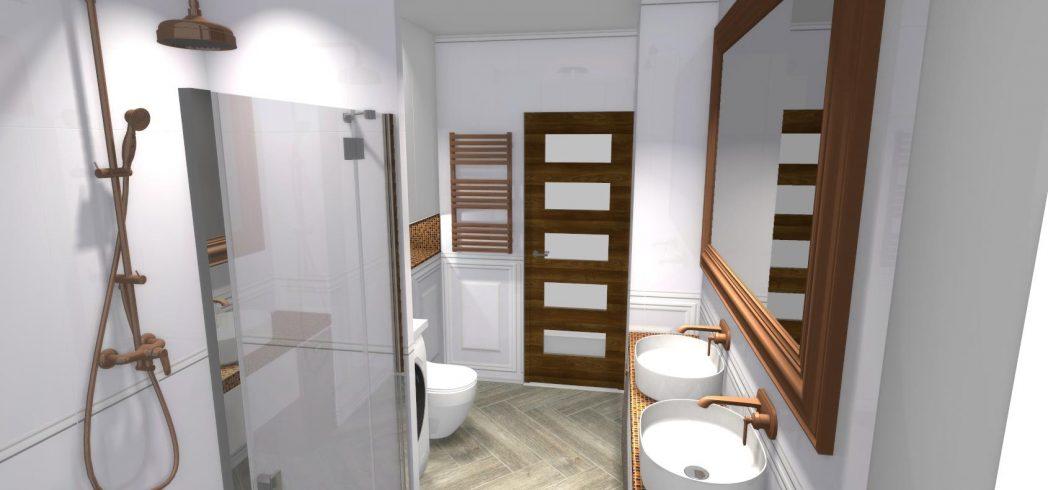 Miedziana łazienka z lat 20